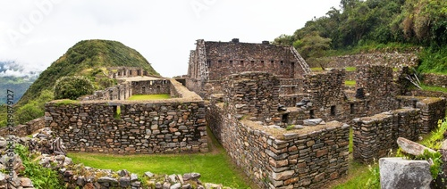 Wall Murals Old building Choquequirao, one of the best Inca ruins in Peru