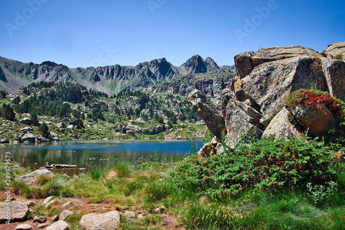 Photo Natural landscape in the mountains of Andorra, Europe
