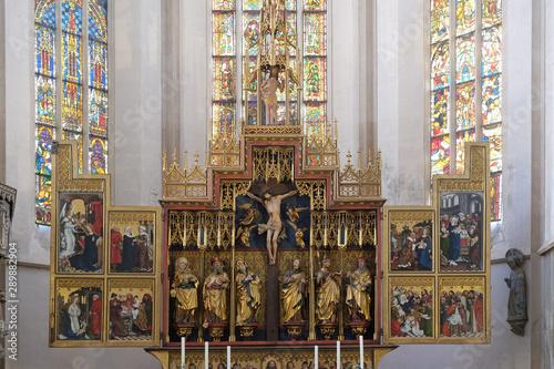 Obraz na plátně  Twelve Apostles altar in St James Church in Rothenburg ob der Tauber, Germany