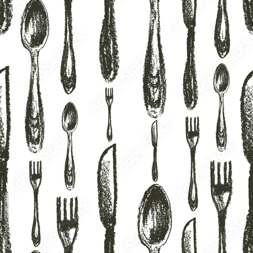 seamless-pattern-of-spoons-forks-knifes-isolated-on-white-background-silverware