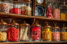 Old Candy Store. Colorful Cand...