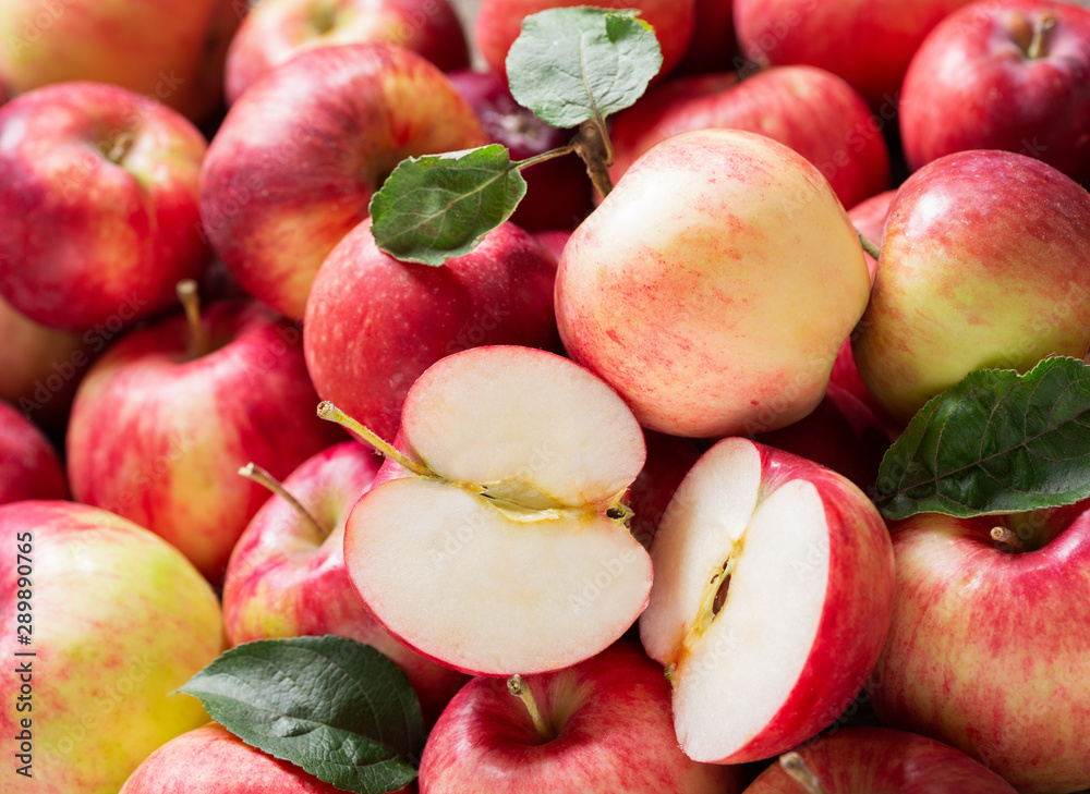 Fototapety, obrazy: fresh apples as background, top view