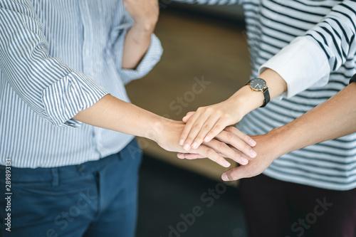 Fotografia, Obraz  Business people put hands together