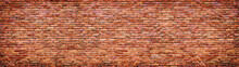 Vintage Brick Wall Texture. Panoramic Background Of Old Stone.