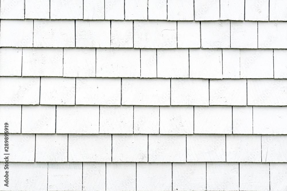 Fototapeta White Exterior Shingle Siding