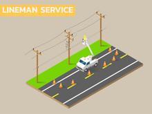 Linemen Repairing Electricity ...