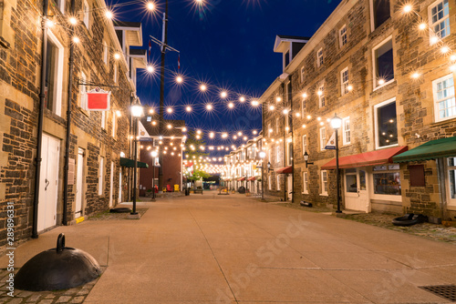Canvas Print Historic Warehouses Along the Halifax Waterfront