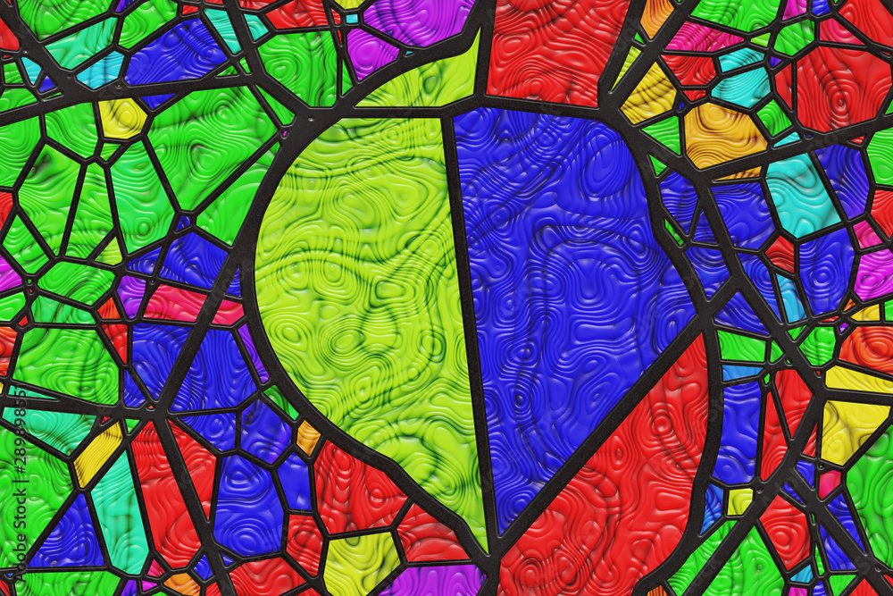 Fototapeta Abstract- hot stained glass