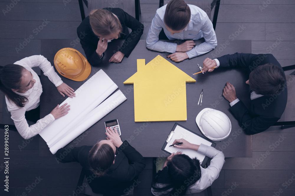 Fototapety, obrazy: Construction business meeting