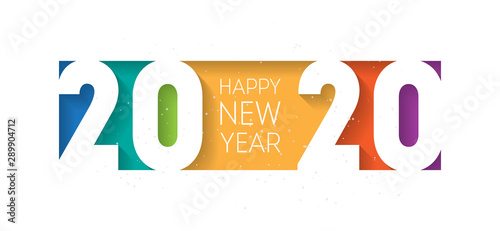 Happy new year 2020 banner Canvas Print