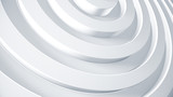White rings 3d render illustration. Abstract business background for brochure concept. Corporate geometric texture.