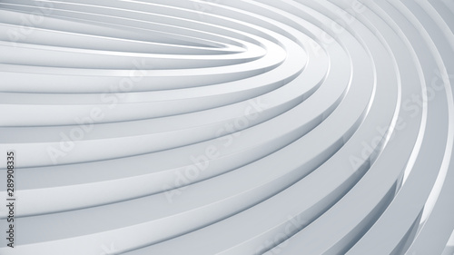 Curve abstract background. Clean and trendy wave texture for business slide concept. 3d illustration. - 289908335