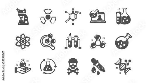 Photo  Chemistry lab icons