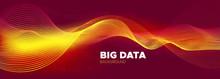 Tech Poster. Glow Digital Particles. Big Data
