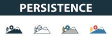 Persistence Icon Set. Four Sim...