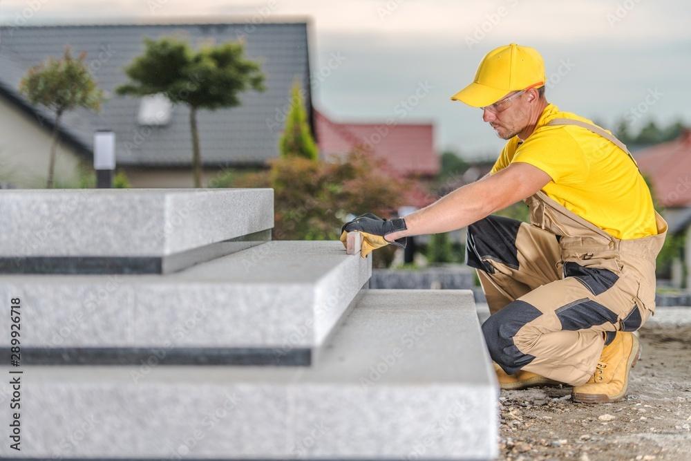 Fototapeta Concrete Stairs Building