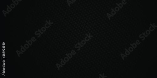 Canvastavla  Dark black Geometric grid background Modern dark abstract vector texture