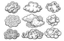 Doodle Clouds Sketch Set