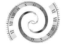 Spiral Roman Numeral Clock Tim...