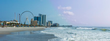 Panoramic View Of Myrtle Beach...