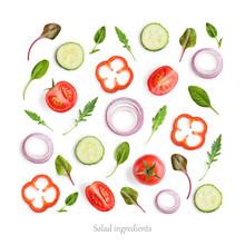 Pattern Made Of Tomato, Cucumb...