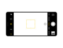 Camera Screen Phone Mobile Interface App. Smartphone Photo Viewfinder Ui Template Design