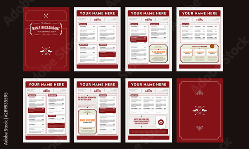 Obraz Classy Food Menu Template - fototapety do salonu