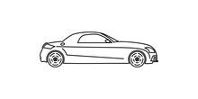 Coupe Line Illustration. Element Of Car