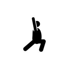 Yoga, Crescent Moon, Pose Icon. Element Of Fat Man Yoga Icon