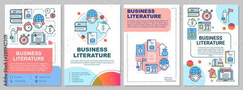 Fotografía  Business literature brochure template