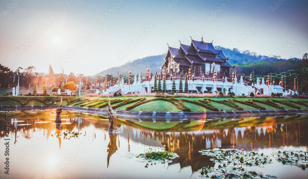 Fototapeta royal Flora Ratchaphruek Park, Chiang Mai, Thailand