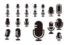Silhouette Podcast Logo Icon V...