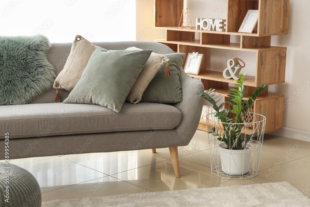 Fototapety, obrazy: Interior of beautiful modern room with comfortable sofa