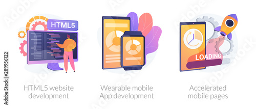 Web programming language, smart tech, app optimization Wallpaper Mural
