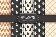 Set Of Halloween Backgrounds. ...