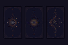 Geometric Mystic Symbols Vecto...