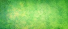 Speckled Yellow And Green Background With Mottled Sunshine Texture And Distressed Old Texture With Paint Drips And Drops In Dark Green Stains