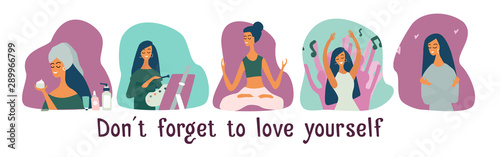 Pinturas sobre lienzo  Love yourself set