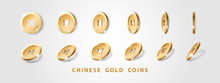 Set Of Realistic Gold Chinese ...