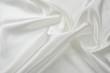 Leinwandbild Motiv Delicate satin draped fabric white texture for festive backgrounds
