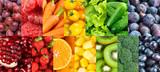 Fototapeta Fototapety do kuchni - Fruits and vegetables. Background of fresh food
