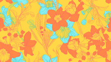 Floral Seamless Pattern, Daffo...