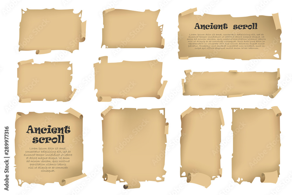 Fototapety, obrazy: Antique banners on different topics for decoration and design.