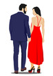 Young handsome man and woman. Businessman.Vector illustration