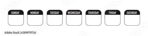 Obraz Weekly planner icon - fototapety do salonu