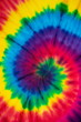 canvas print picture Tie dye rainbow spiral abstract pattern background . hippie and reggae style .