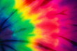 canvas print picture - Tie dye rainbow abstract pattern background . hippie and reggae style .