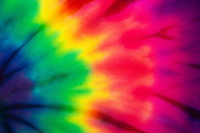 Tie Dye Rainbow Abstract Pattern Background . Hippie And Reggae Style .
