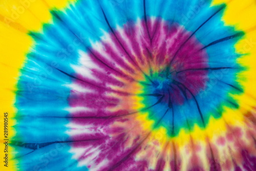 Foto auf Leinwand Boho-Stil rainbow spiral tie dye background