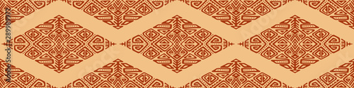 Photo Vector Seamless Pattern in Ethnic Style